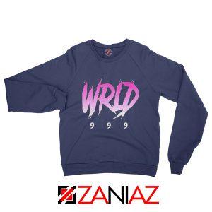 Juice Wrld Singer Sweatshirt Music Lover Sweatshirt Size S-2XL Navy Blue