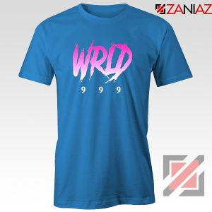 Juice Wrld Singer T-Shirt Music Lover Tee Shirt Size S-3XL Blue