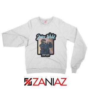 Juicewrld USA Music Sweatshirt American Hip Hop Sweatshirt Size S-2XL White