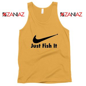 Just Fish It Tank Top Funny Nike Parody Tank Top Size S-3XL Sunshine