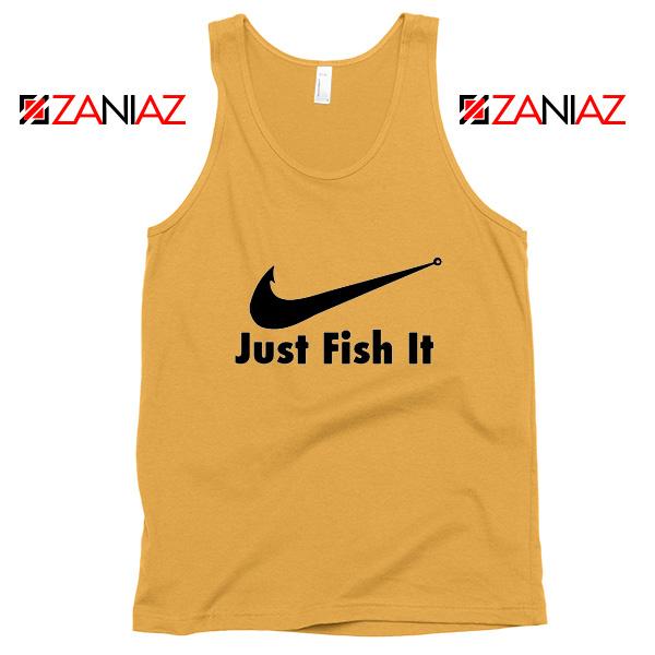 Just Fish It Tank Top Funny Nike Parody Tank Top Size S-3XL Sunshine