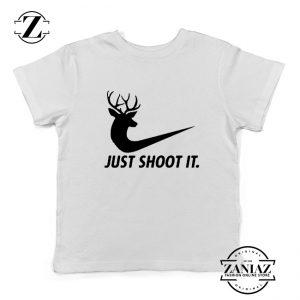 Just Shoot It Parody Kids Shirts Humor Youth Tee Shirt Size S-XL