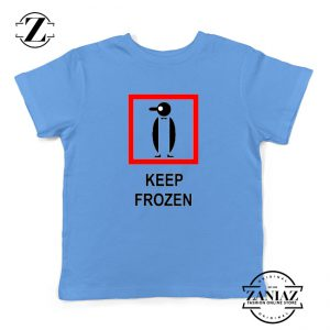 Keep Frozen Penguin Youth Tshirt Animal Kids Tshirt Size S-XL Blue