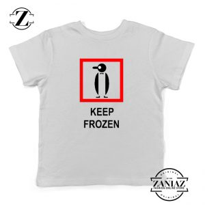 Keep Frozen Penguin Youth Tshirt Animal Kids Tshirt Size S-XL White
