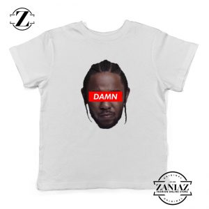 Kendrick Lamar DAMN Kids Shirts Music Lover Youth T-Shirt White
