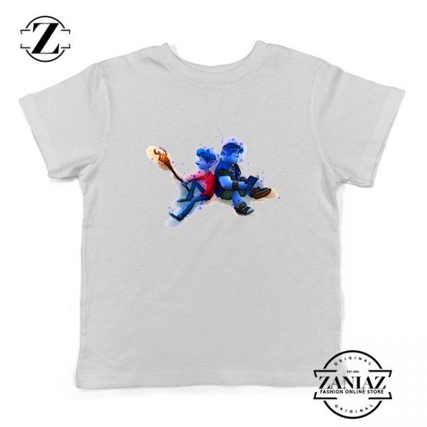 Lan Lightfoot Onward Youth Shirts Pixar Studios Kids T-Shirt Size S-XL White