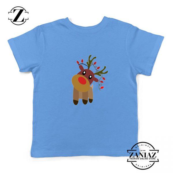 Little Deer Christmas Youth Shirt Christmas Gift Idea Kids Shirt Light Blue