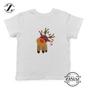 Little Deer Christmas Youth Shirt Christmas Gift Idea Kids Shirt White