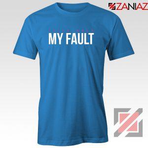 My Fault Wrld T-Shirt American Rapper Tee Shirt S-3XL Blue