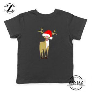 Naughty Reindeer Kids Tshirt Ugly Christmas Youth Shirt Size S-XL Black
