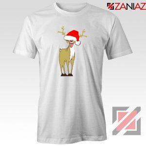 Naughty Reindeer Tshirt Ugly Christmas Tee Shirt Size S-3XL White