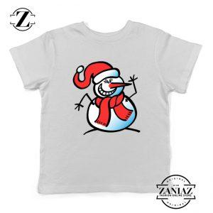 Naughty Snowman Youth Shirt Funny Christmas Kids Shirt White