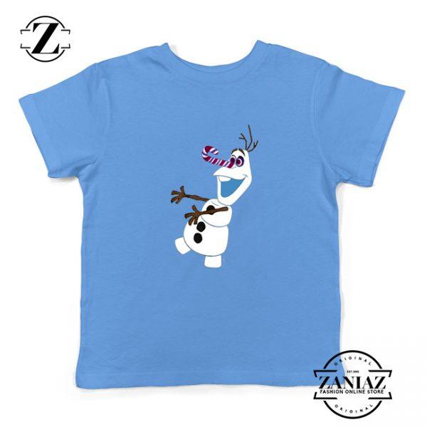 Olaf I'm On a Mission Kids T-Shirt Disney's Frozen Youth Shirts Light Blue