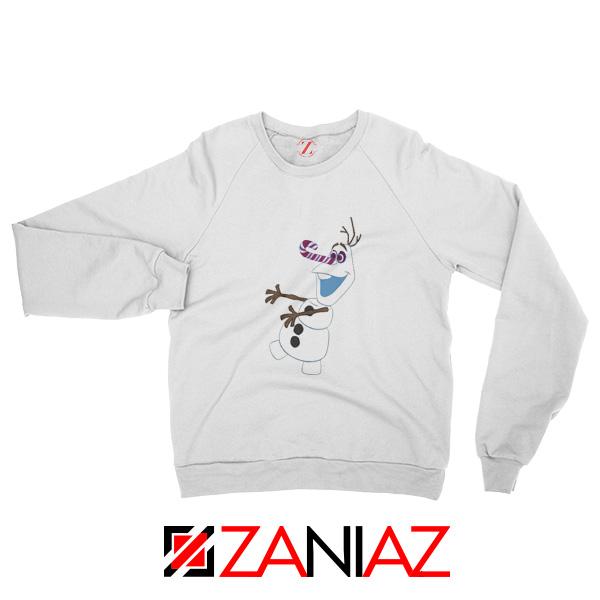 Olaf I'm On a Mission Sweatshirt Disney's Frozen Sweatshirt Size S-2XL White
