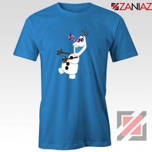 Olaf I'm On a Mission T-Shirt Disney's Frozen T-Shirt Size S-3XL Blue