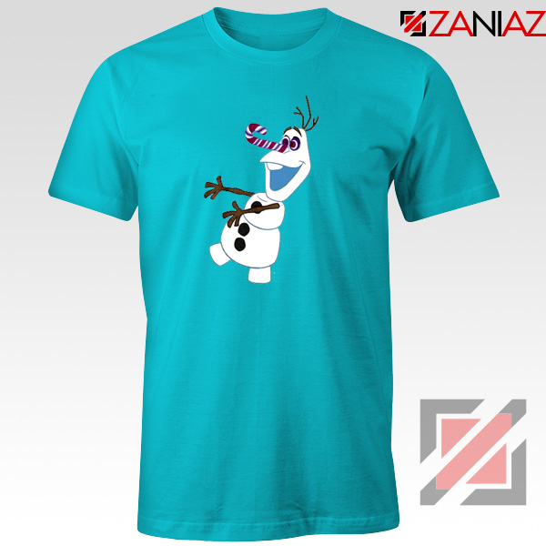 Olaf I'm On a Mission T-Shirt Disney's Frozen T-Shirt Size S-3XL Light Blue