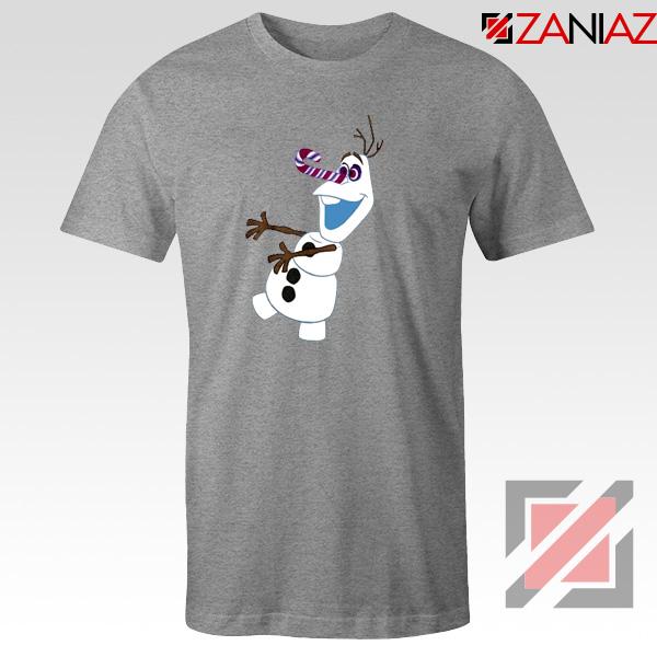 Olaf I'm On a Mission T-Shirt Disney's Frozen T-Shirt Size S-3XL Sport Grey