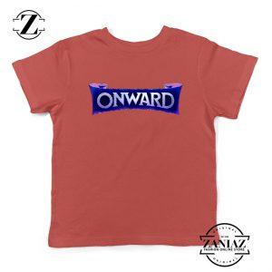 Onward Movie Logo Youth T-Shirt Disney PIXAR Kids Shirts Size S-XL Red