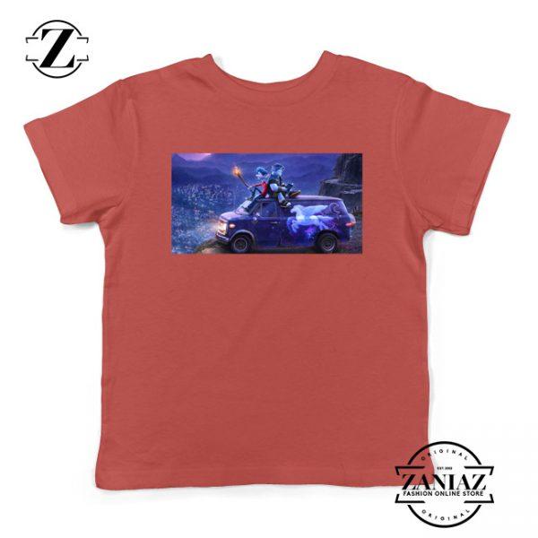 Onward Poster Film Kids Shirts Disney Studio Youth T-Shirt Size S-XL Red