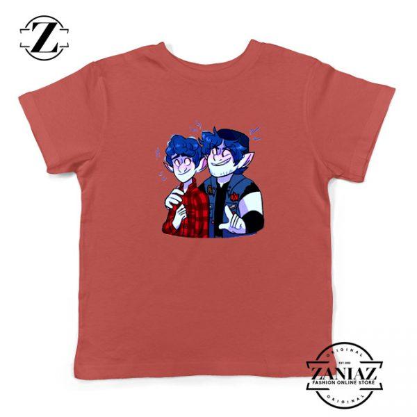 Pixar Onward Film Kids Shirts Ian Lightfoot Youth T-Shirt Size S-XL Red