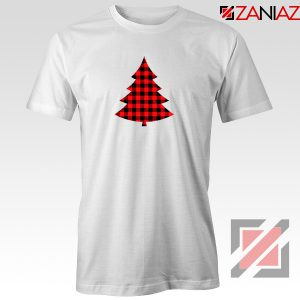 Plaid Christmas Tree T-Shirt Ugly Christmas Tee Shirt Size S-3XL White