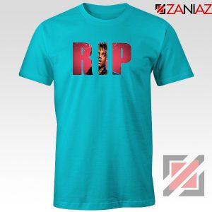 RIP Juice WRLD T-Shirt Funny Music Tee Shirt Size S-3XL Light Blue