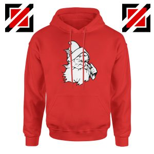 Santa Claus Face Hoodie Funny Christmas Best Hoodie Size S-2XL Red