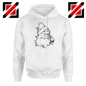 Santa Claus Face Hoodie Funny Christmas Best Hoodie Size S-2XL White