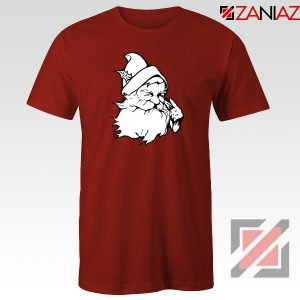 Santa Claus Face T-Shirt Funny Christmas Tee Shirt Size S-3XL Red