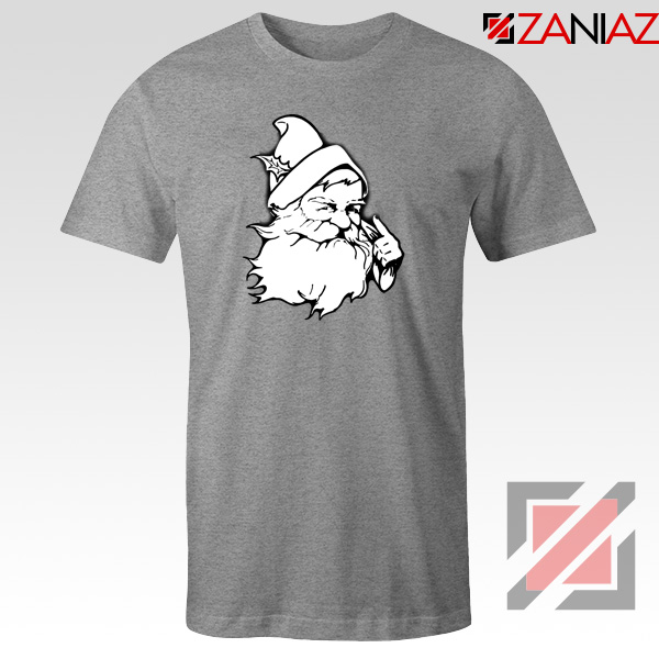 Santa Claus Face T-Shirt Funny Christmas Tee Shirt Size S-3XL Sport Grey