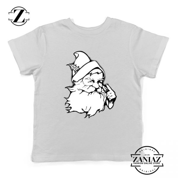 Santa Claus Face Youth Tshirt Funny Christmas Kids Tshirt Size S-XL White
