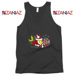 Santa Clause Fish Tank Top Cute Christmas Tank Top Size S-3XL Black