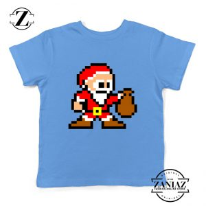 Santa Lego Youth T-Shirt Merry Christmas Kids Shirt Size S-XL Light Blue
