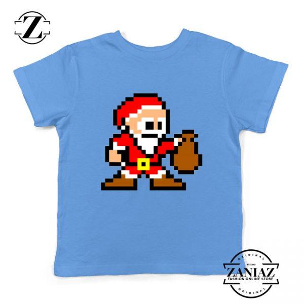 Santa Lego Youth T-Shirt Merry Christmas Kids Shirt Size S-XL Light Blue