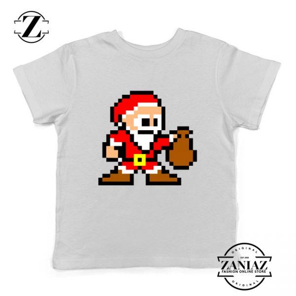 Santa Lego Youth T-Shirt Merry Christmas Kids Shirt Size S-XL White