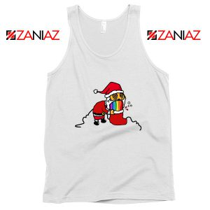 Santa Rainbow Tank Top Funny Christmas Gift Tank Top Size S-3XL White