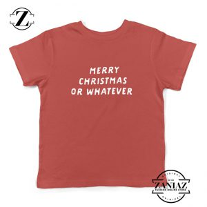 Sarcastic Christmas Kids T-Shirt Merry Christmas Youth Shirt Red