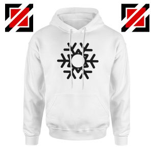 Snowflake Hoodie Ugly Christmas Gift Hoodie Size S-2XL White