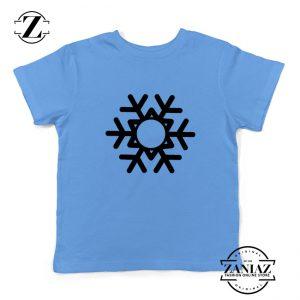 Snowflake Kids T-Shirt Ugly Christmas Gift Youth Shirt Size S-XL Light Blue
