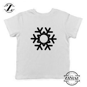Snowflake Kids T-Shirt Ugly Christmas Gift Youth Shirt Size S-XL White