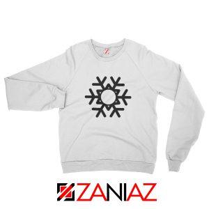 Snowflake Sweatshirt Ugly Christmas Gift Sweatshirt Size S-2XL White