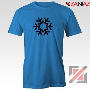 Snowflake Tee Shirt Ugly Christmas Gift T-Shirt Size S-3XL Blue