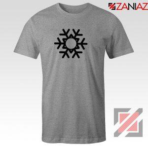 Snowflake Tee Shirt Ugly Christmas Gift T-Shirt Size S-3XL Sport Grey