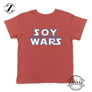Soy Wars The Rise Of Mary Sue Kids T-Shirt Star Wars Parody Youth Shirts Red