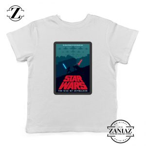 Star Wars Retro Youth T-Shirt The Rise Of Skywalker Kids Shirts White