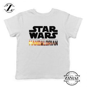 Star Wars The Mandalorian Kids Tee Shirts American TV Series Size S-XL White