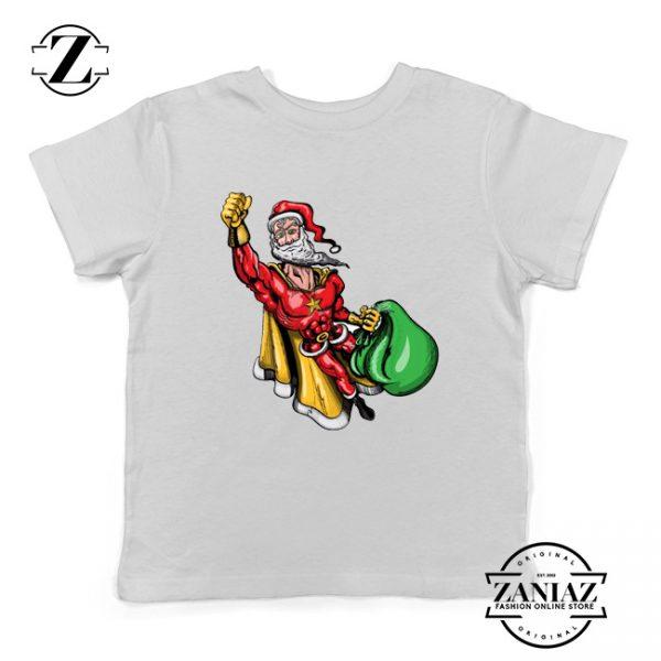Super Santa Claus Kids Tshirt Ugly Christmas Youth Shirt Size S-XL White