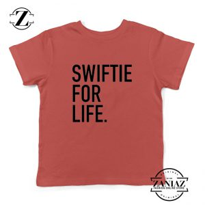 Swiftie For Life Kids Shirts Reputation Lyrics Best Youth T-Shirt Size S-XL Red
