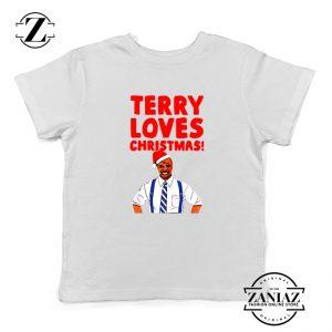Terry Jeffords Christmas Kids T-Shirt Brooklyn Nine Nine Youth Shirts White