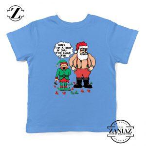 The Lump of Coal Youth T-Shirt Ugly Christmas Kids T-Shirt Light Blue